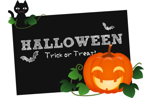 halloween treat background